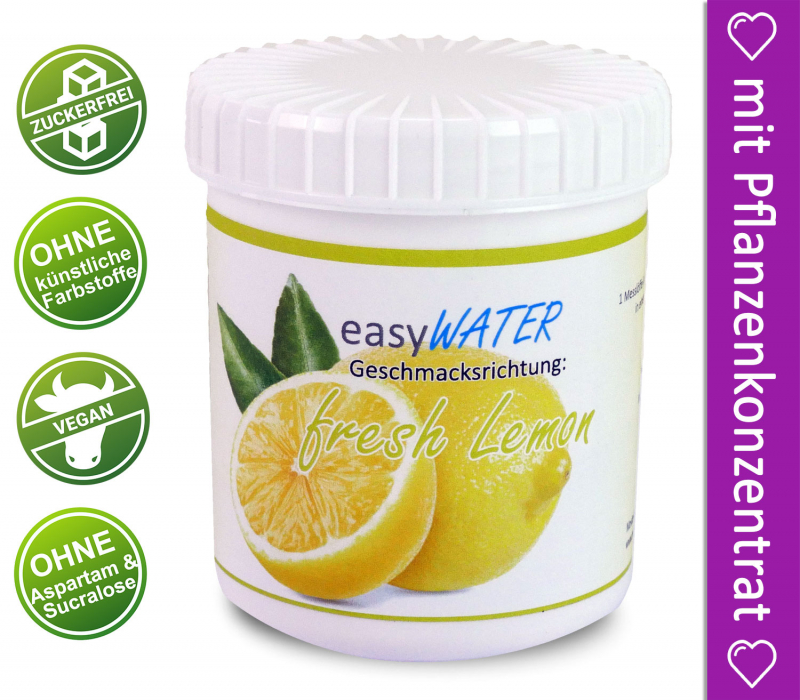 fresh Lemon - easyWater - 25 Portionen